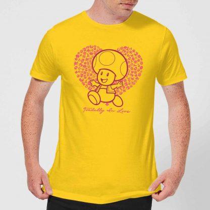 Super Mario Toadally In Love Men's T-Shirt - Yellow - XS - Citron chez Casa Décoration