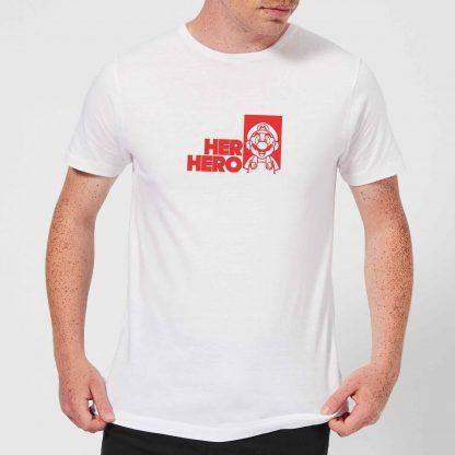 Super Mario Her Hero Men's T-Shirt - White - XS - Blanc chez Casa Décoration