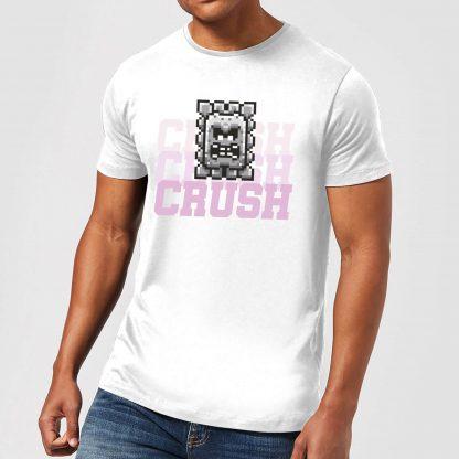 Super Mario CRUSH CRUSH CRUSH Men's T-Shirt - White - XS - Blanc chez Casa Décoration