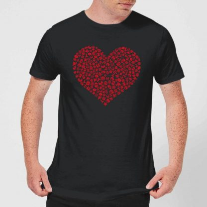 Super Mario Items Heart Men's T-Shirt - Black - XS chez Casa Décoration