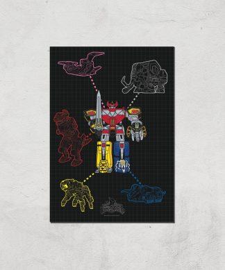 Poster Fine Art Power Rangers Megazord - A4 - Print Only chez Casa Décoration