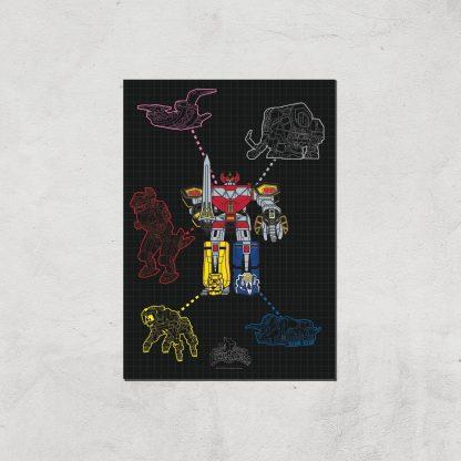 Poster Fine Art Power Rangers Megazord - A3 - Print Only chez Casa Décoration