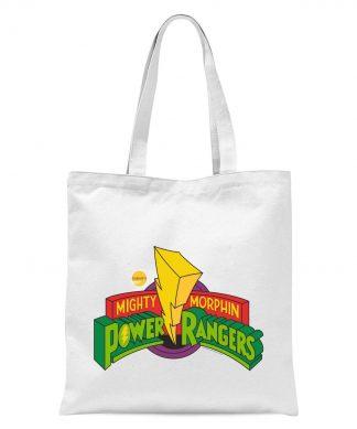 Tote Bag Power Rangers Power Rangers - Blanc chez Casa Décoration