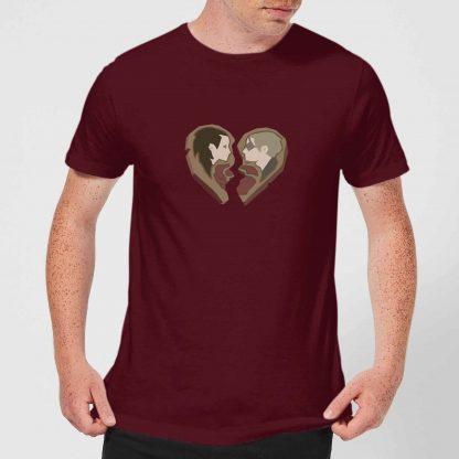 Sea Of Thieves Heart Tee T-Shirt - Burgundy - XS - Burgundy chez Casa Décoration