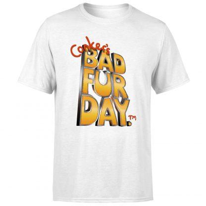 Conker Bad Fur Day T-Shirt - White - XS chez Casa Décoration