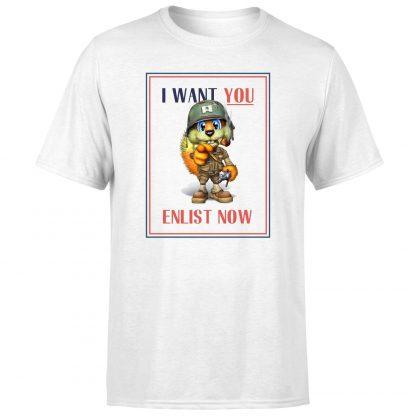 Conker I Want You T-Shirt - White - XS chez Casa Décoration