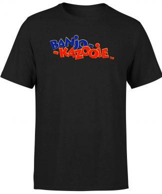 Banjo Kazooie Logo T-Shirt - Black - XS chez Casa Décoration
