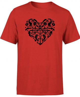 Sea of Thieves Heart T-Shirt - Red - XS chez Casa Décoration