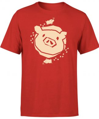 Sea of Thieves Pig T-Shirt - Red - XS chez Casa Décoration