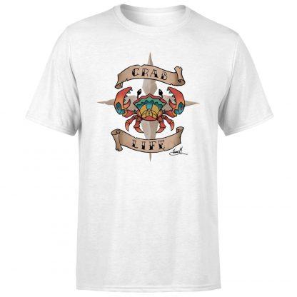 Sea of Thieves Crab Life T-Shirt - White - XS chez Casa Décoration
