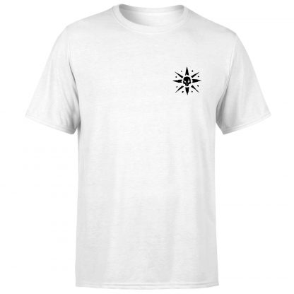 Sea of Thieves Compass Embroidery T-Shirt - White - XS chez Casa Décoration