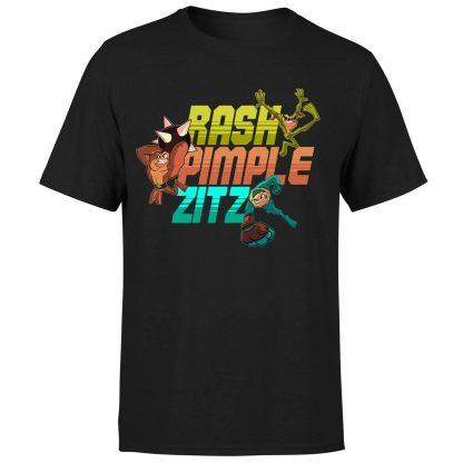 Battle Toads Rash Pimple Zitz T-Shirt - Black - XS chez Casa Décoration