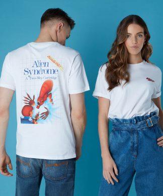 T-shirt Sega Alien Snydrome - Blanc - Unisexe - XS - Blanc chez Casa Décoration
