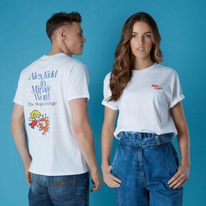 T-shirt Sega Alex Kidd - Blanc - Unisexe - XS - Blanc chez Casa Décoration