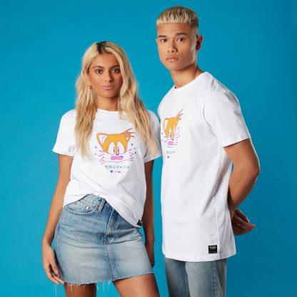 T-shirt Miles 'Tails' Prower Sonic the Hedgehog - Blanc - Unisexe - XS chez Casa Décoration