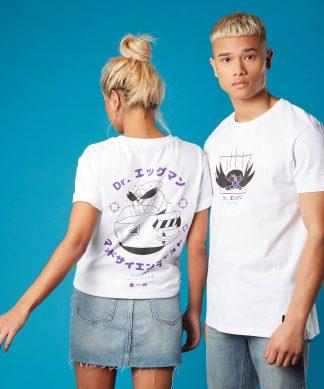 T-shirt Dr Eggman Sonic the Hedgehog - Blanc - Unisexe - XS - Blanc chez Casa Décoration