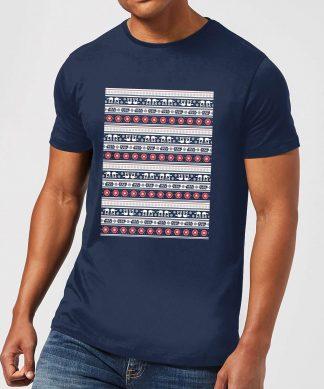 T-Shirt de Noël Homme Star Wars AT-AT - Bleu Marine - XS - Navy chez Casa Décoration