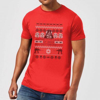 T-Shirt de Noël Homme Star Wars I Find Your Lack Of Cheer Disturbing - Rouge - XS chez Casa Décoration