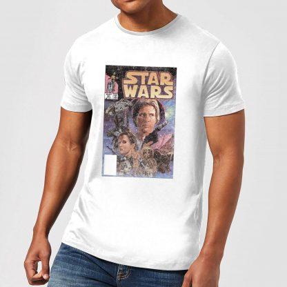T-Shirt Homme Couverture Comics Star Wars Classic - Blanc - XS - Blanc chez Casa Décoration