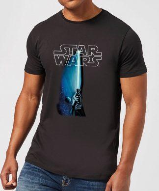 T-Shirt Homme Sabre Laser Star Wars Classic - Noir - XS - Noir chez Casa Décoration