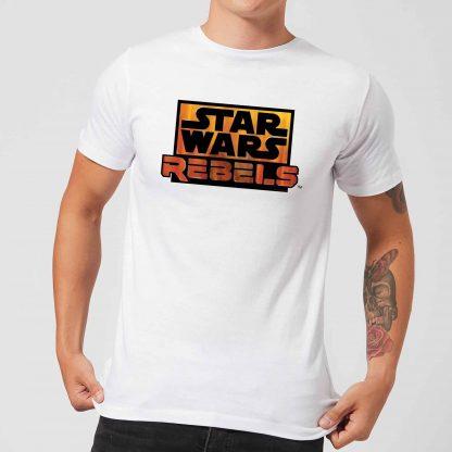 T-Shirt Homme Logo Star Wars Rebels - Blanc - XS - Blanc chez Casa Décoration