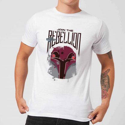 T-Shirt Homme Rebellion Star Wars Rebels - Blanc - XS chez Casa Décoration