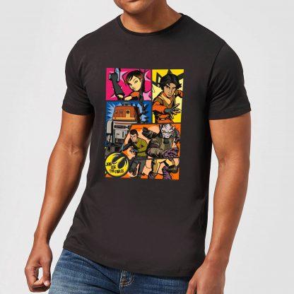 T-Shirt Homme Comic Strip Star Wars Rebels - Noir - XS - Noir chez Casa Décoration