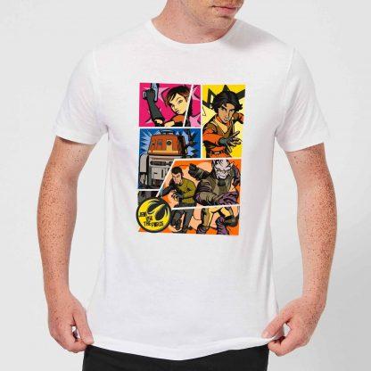 T-Shirt Homme Comic Strip Star Wars Rebels - Blanc - XS - Blanc chez Casa Décoration