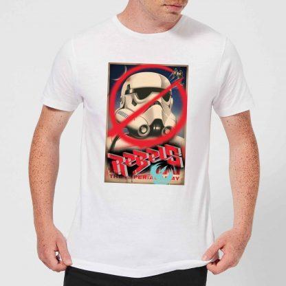T-Shirt Homme Poster Star Wars Rebels - Blanc - XS - Blanc chez Casa Décoration