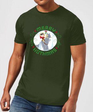 T-Shirt de Noël Homme Star Wars Merry Hothmas - Vert - XS - Forest Green chez Casa Décoration