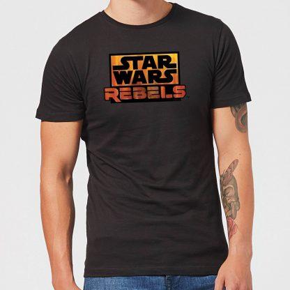 T-Shirt Homme Logo Star Wars Rebels - Noir - XS chez Casa Décoration