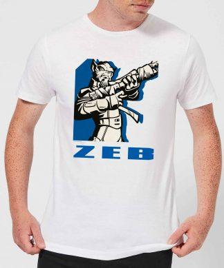 T-Shirt Homme Zeb Star Wars Rebels - Blanc - XS - Blanc chez Casa Décoration