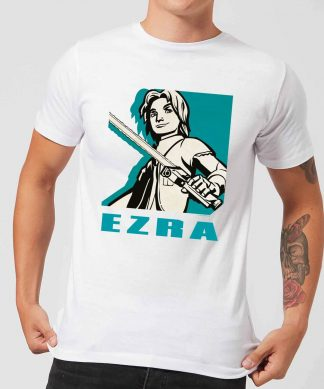T-Shirt Homme Ezra Star Wars Rebels - Blanc - XS - Blanc chez Casa Décoration