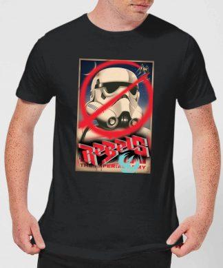 T-Shirt Homme Poster Star Wars Rebels - Noir - XS - Noir chez Casa Décoration
