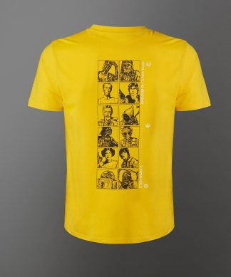 T-shirt Star Wars A New Hope Lineup - Jaune - Unisexe - XS - Citron chez Casa Décoration