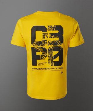 T-shirt Star Wars C3-P0 - Jaune - Unisexe - XS - Citron chez Casa Décoration