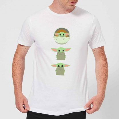 The Mandalorian The Child Poses Men's T-Shirt - White - XS chez Casa Décoration