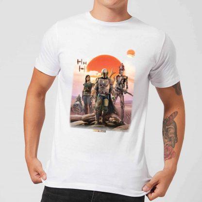 The Mandalorian Warriors Men's T-Shirt - White - XS chez Casa Décoration