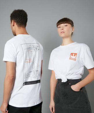 The Rise of Skywalker -T-shirt X-Wing Schematic - Blanc - Unisexe - XS - Blanc chez Casa Décoration