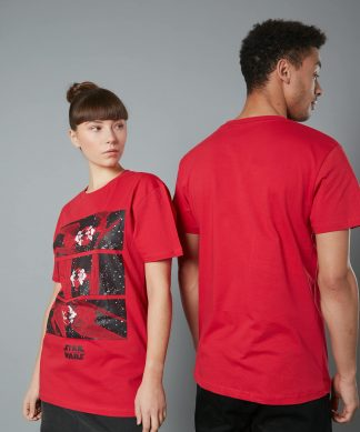 The Rise of Skywalker -T-shirt TIE fighter - Rouge - Homme - Unisexe - XS chez Casa Décoration