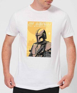 The Mandalorian Art Poster Men's T-Shirt - White - XS chez Casa Décoration