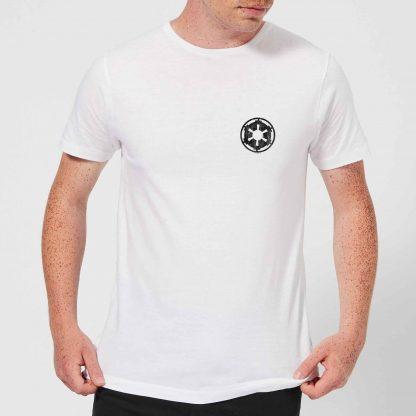 The Mandalorian Galactic Empire Insignia Breast Print Men's T-Shirt - White - XS - Blanc chez Casa Décoration