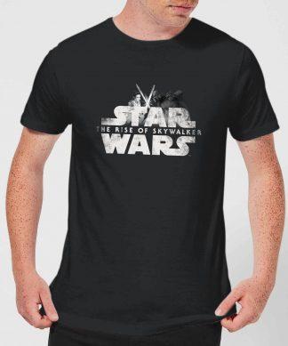 Star Wars: The Rise Of Skywalker Rey + Kylo Battle Men's T-Shirt - Black - XS - Noir chez Casa Décoration