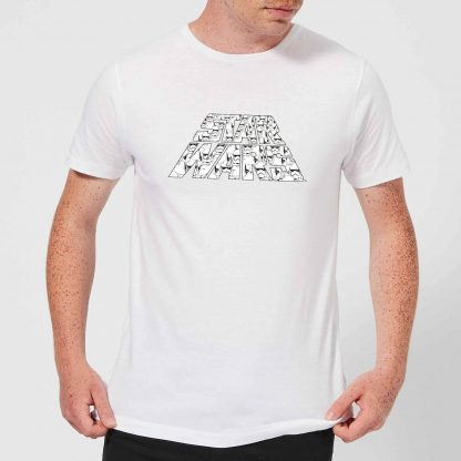 Star Wars: The Rise Of Skywalker Trooper Filled Logo Men's T-Shirt - White - XS - Blanc chez Casa Décoration