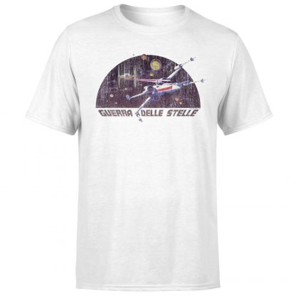 T-Shirt Star Wars X-Wing Italian - Homme - Blanc - XS - Blanc chez Casa Décoration