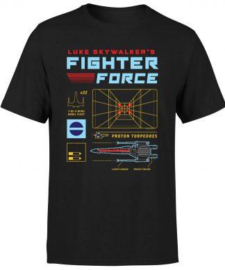 T-Shirt Star Wars Fighter Force - Homme - Noir - XS - Noir chez Casa Décoration