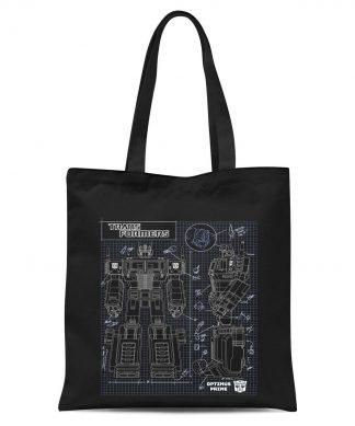 Transformers Optimus Prime Schematic Tote Bag - Black chez Casa Décoration