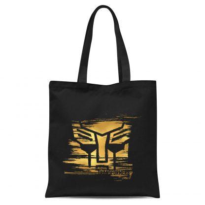 Transformers Gold Autobot Symbol Tote Bag - Black chez Casa Décoration