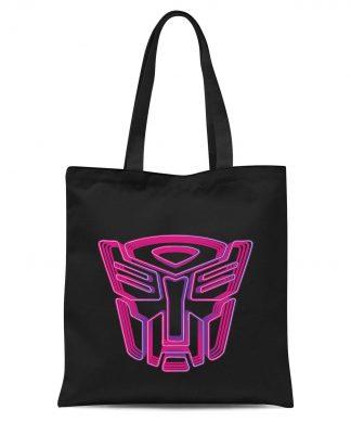 Transformers Neon Autobot Tote Bag - Black chez Casa Décoration