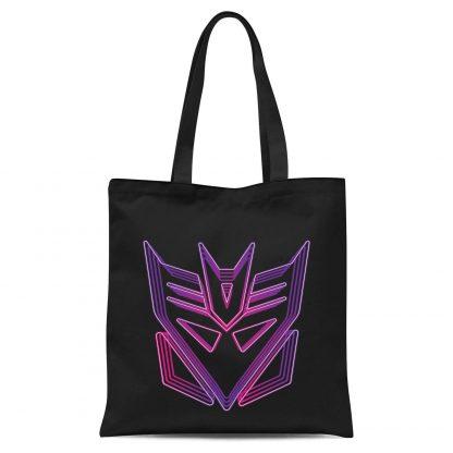 Transformers Neon Decepticon Tote Bag - Black chez Casa Décoration